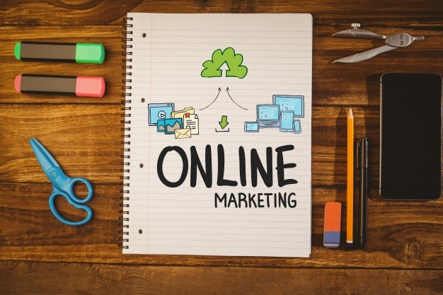 Notebook With The Words Online Marketing 1134 439